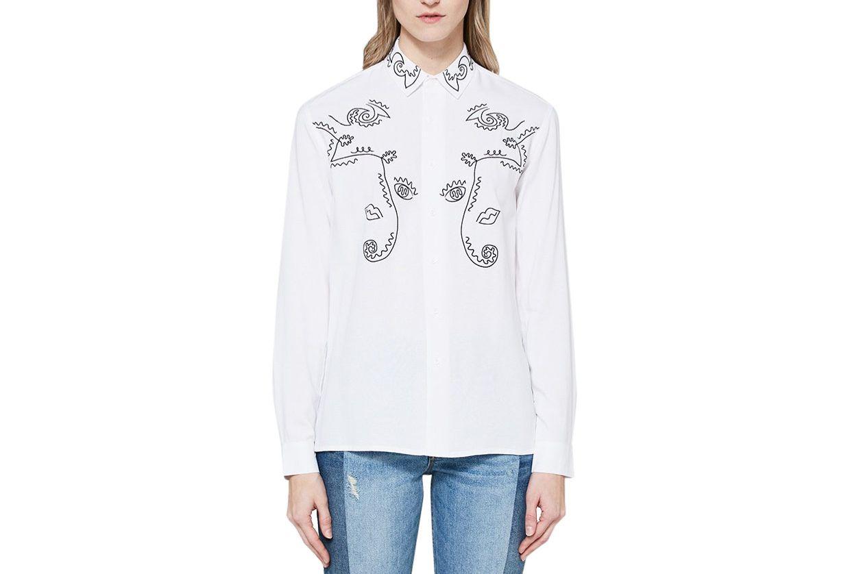 Bruta Western White Shirt