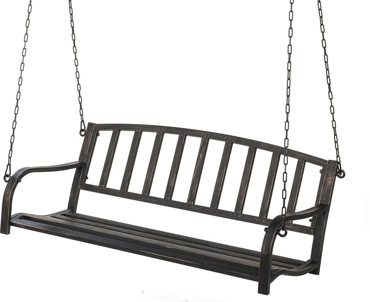 SLH Metal Patio Porch Swing