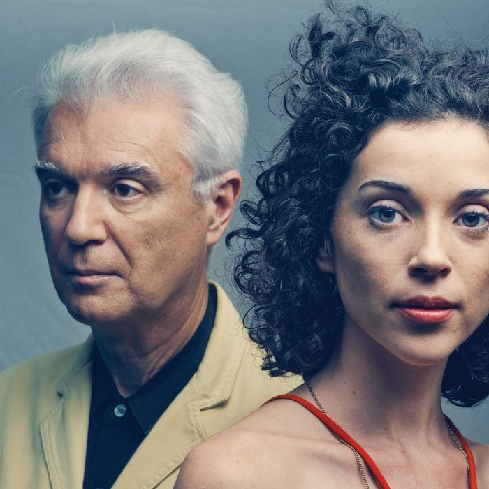 David Byrne and Annie Clark who records under the name St. Vincent