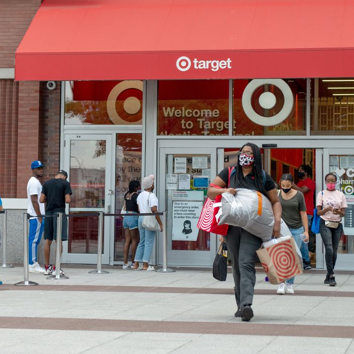 Target shoppers in Brooklyn, New York