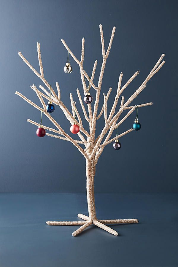 Beaded Bark Decorative Tree