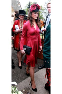 Pippa Middleton, in Kate's dress.