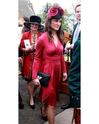 Pippa Middleton, in Kate's dress.