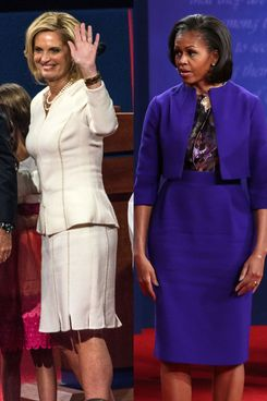 Michelle Obama and Ann Romney.