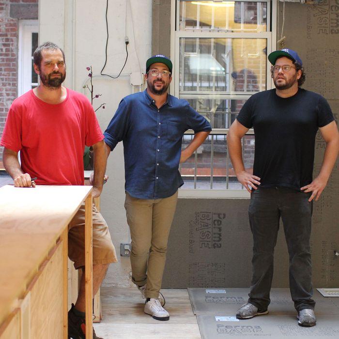 Sasha Noe, Matt Ross, and Eric Finkelstein in their new location.