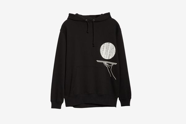 BEAMS T x Flagstuff Graphic Cotton Hoodie