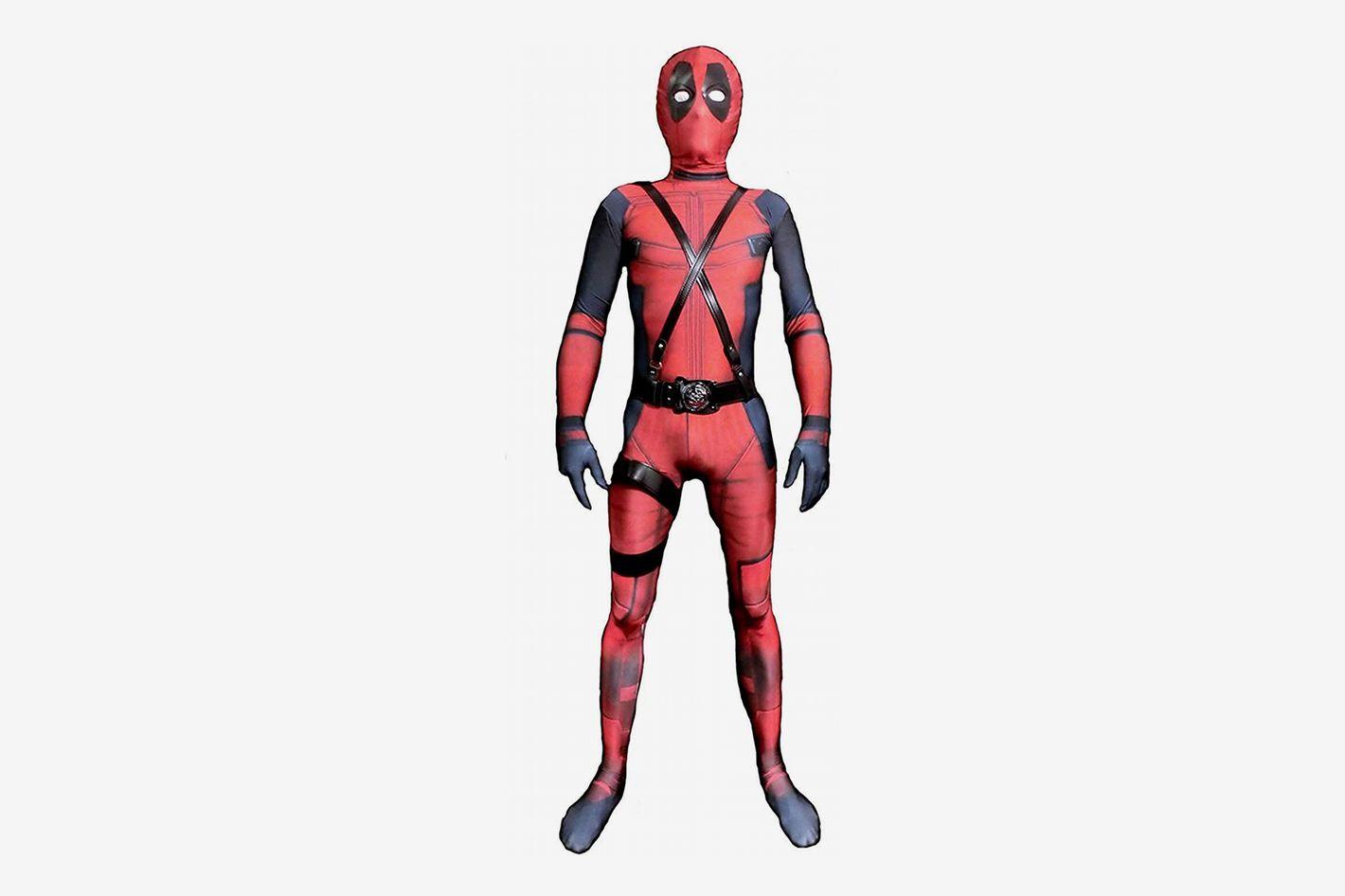 Deadpool Riekinc Unisex Lycra Spandex Halloween Costume Kids