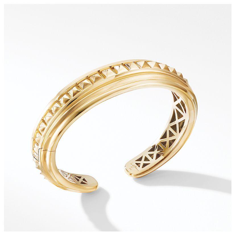 Bold Modern Renaissance Cuff Bracelet in 18K Yellow Gold