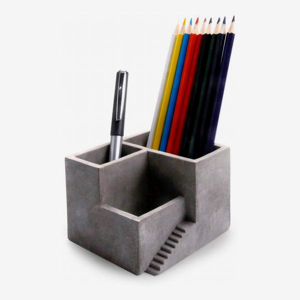 Cement Pencil Holder