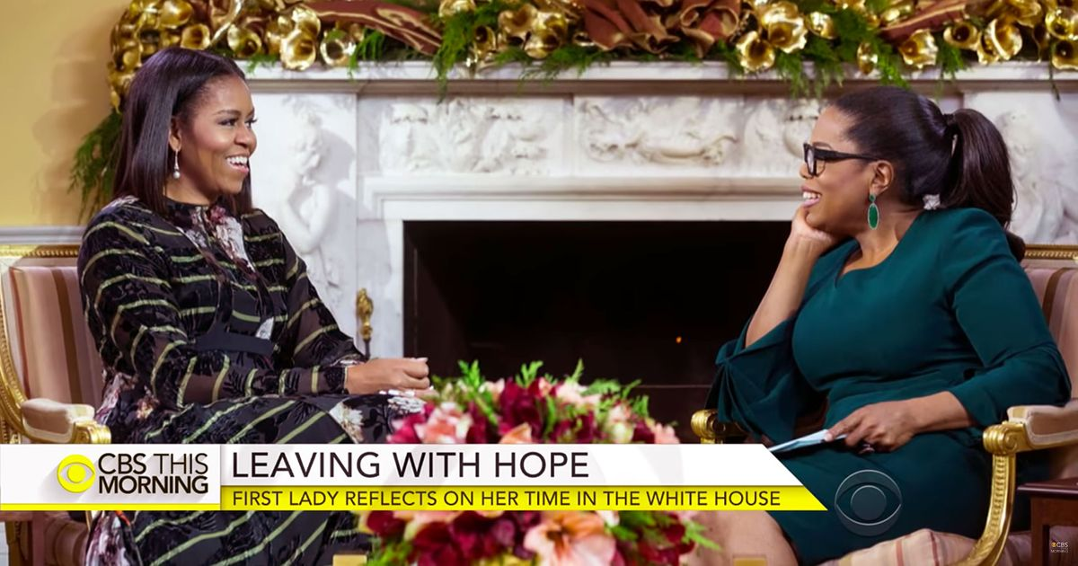 Michelle obama talks to oprah winfrey about losing hope