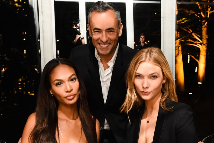 Joan Smalls, Francisco Costa, Karlie Kloss.