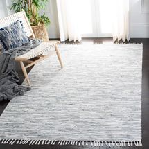 Safavieh Montauk Collection Handmade Flat weave Silver Cotton Area Rug