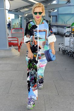 Rita Ora seen arriving at London Heathrow Airport on May 7, 2014 in London, England. (Photo by William Parker/GC Images)