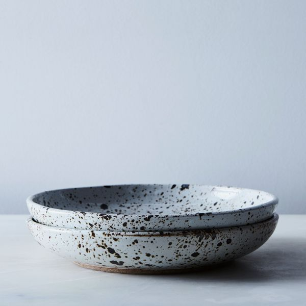 Handmade Ceramic Dinnerware — Salad Bowl, Speckled (Set of 2)