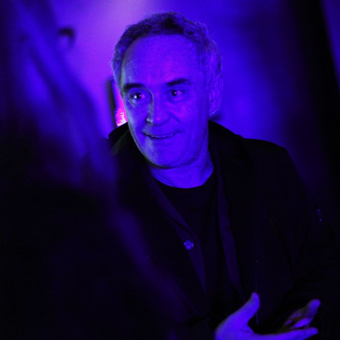 Ferran Adrià, taking in the sights.