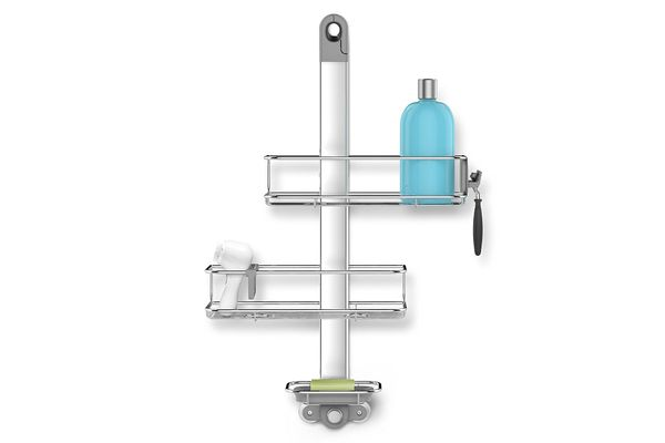 Simplehuman Adjustable, Hanging Shower Caddy, Stainless Steel and Anodized Aluminum