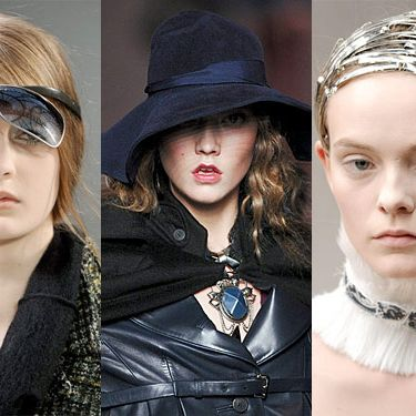 From left: detail shots from Chanel, Christian Dior, and Alexander McQueen.