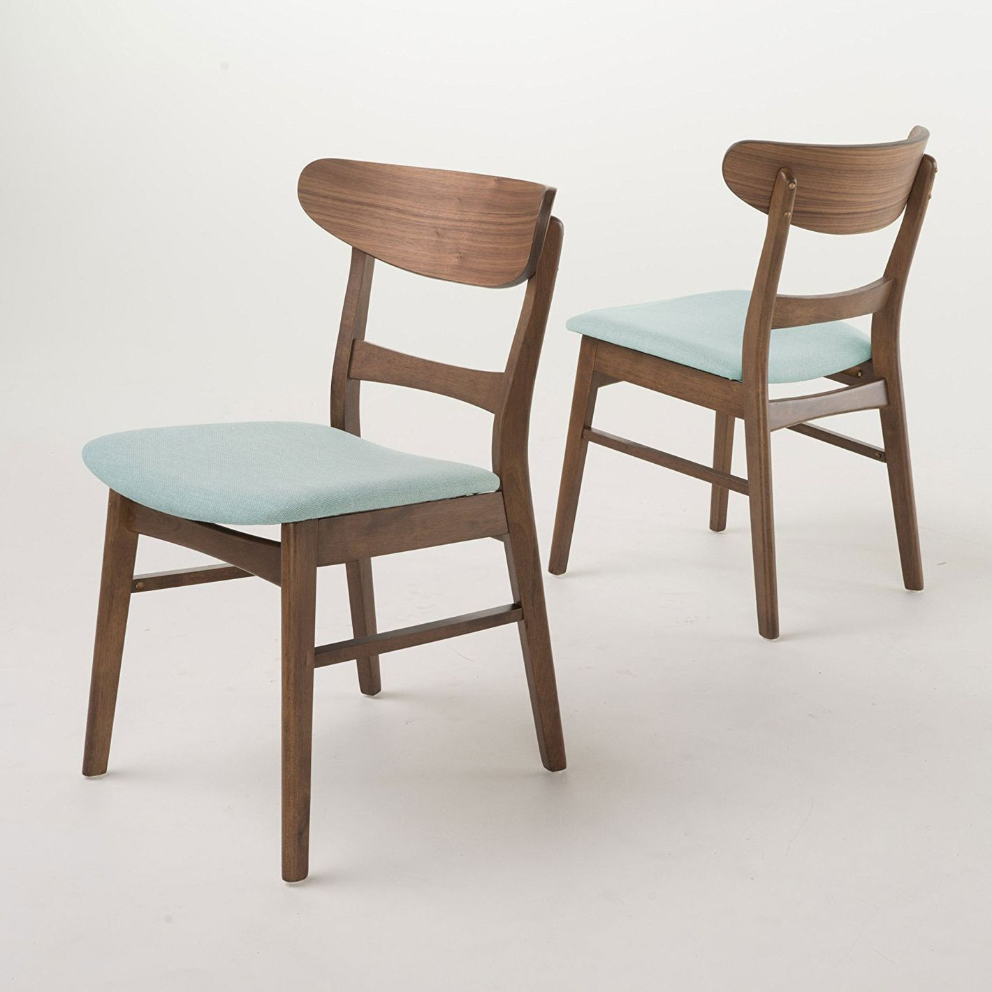 GDF Studio Helen Mid Century Modern Dining Chair, Set of 2