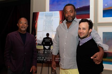 "MARTHA'S VINEYARD, MA - AUGUST 14:  (L-R) Professor Henry Louis Gates Jr. director Lee Daniels and writer Danny Strong attend the ""Lee Daniels' The Butler"" Screening Hosted By Professor Henry Louis Gates Jr. at the Martha's Vineyard Film Center August 14, 2013 in Martha's Vineyard, Massachusetts. (Photo by Gail Oskin/Getty Images for The Weinstein Company)"