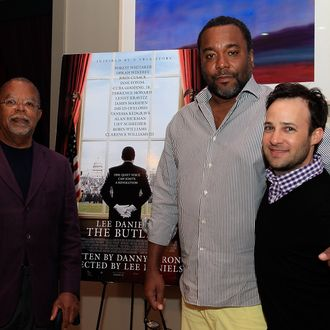 MARTHA'S VINEYARD, MA - AUGUST 14: (L-R) Professor Henry Louis Gates Jr. director Lee Daniels and writer Danny Strong attend the
