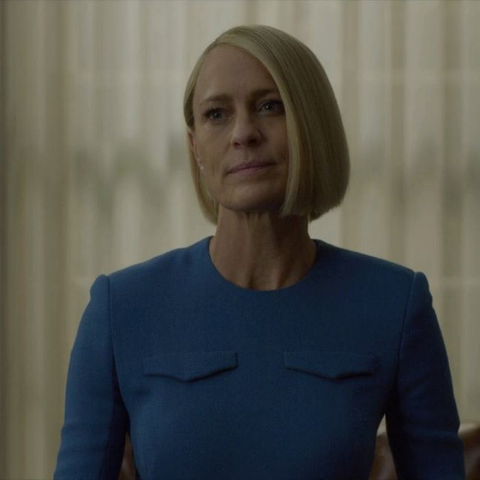 Robin Wright as President Claire Hale.