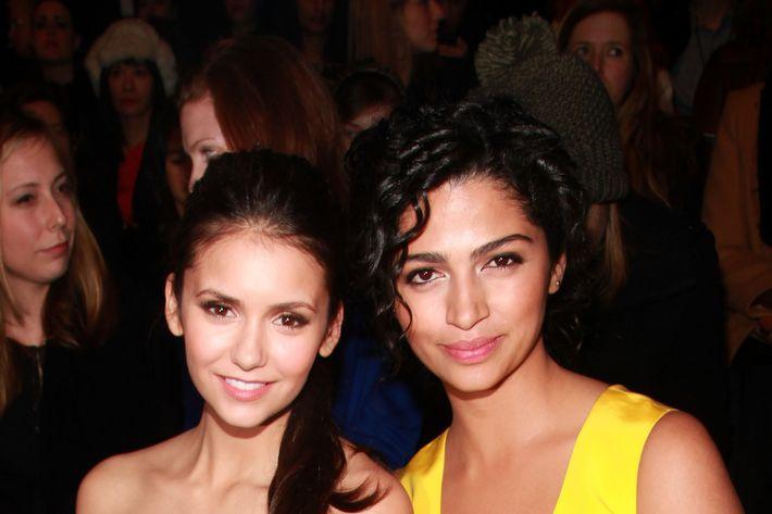 Nina Dobrev (left) and Camila Alves