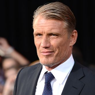 Actor Dolph Lundgren arrives at Lionsgate Films' 'The Expendables 2' premiere on August 15, 2012 in Hollywood, California.