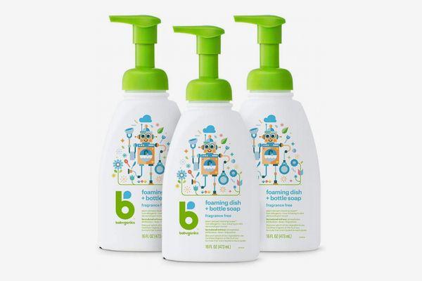 Babyganics Foaming Dish and Bottle Soap, 16 Ounces (3-Pack)