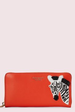 Kate Spade Safari Zip-Around Continental Wallet