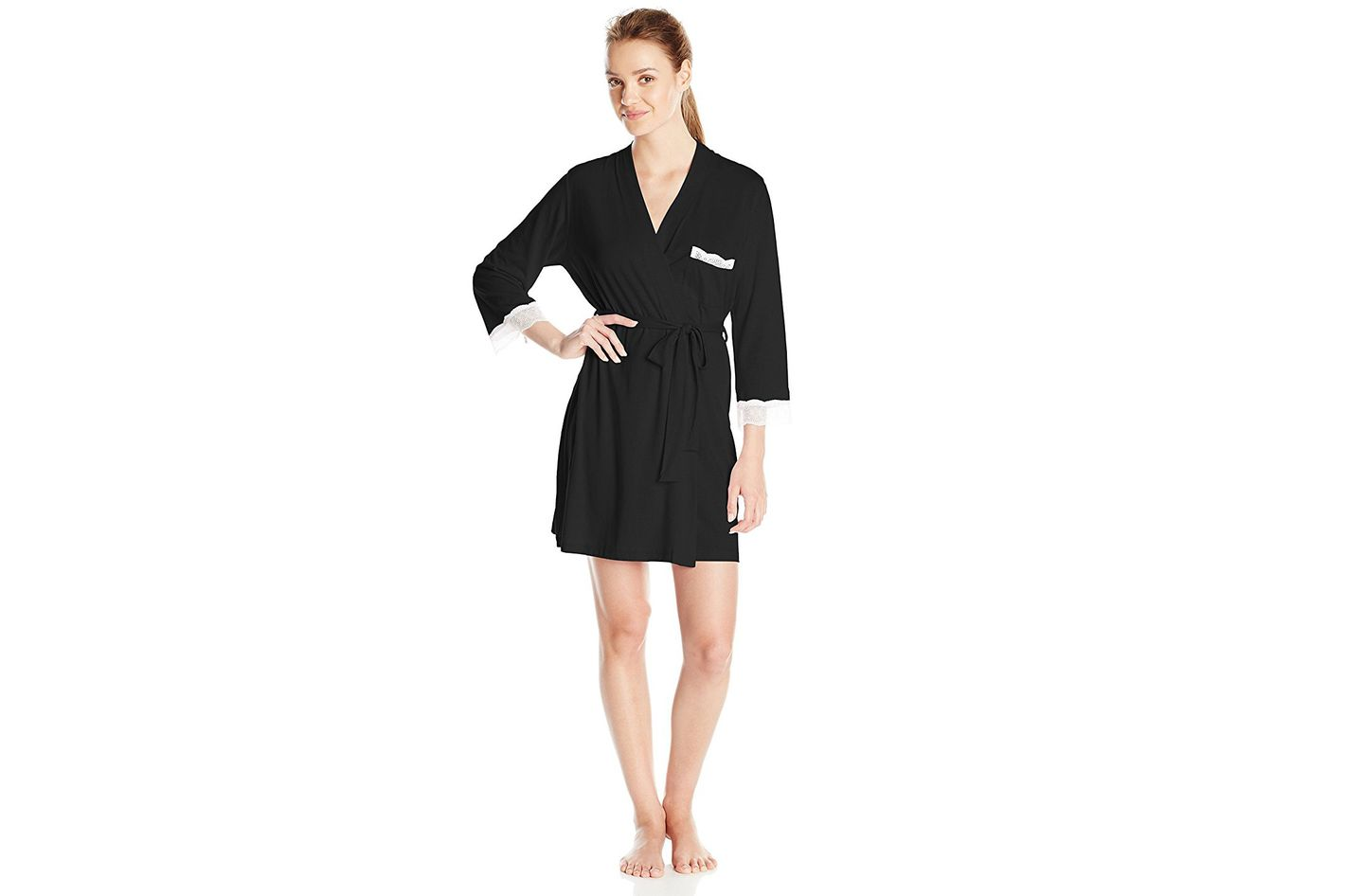 Cosabella Women's Perugia Three-Quarter-Sleeve Robe