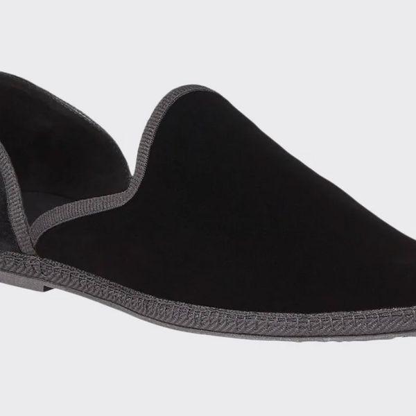 The Row Friulane Soft Velvet Flat Slippers