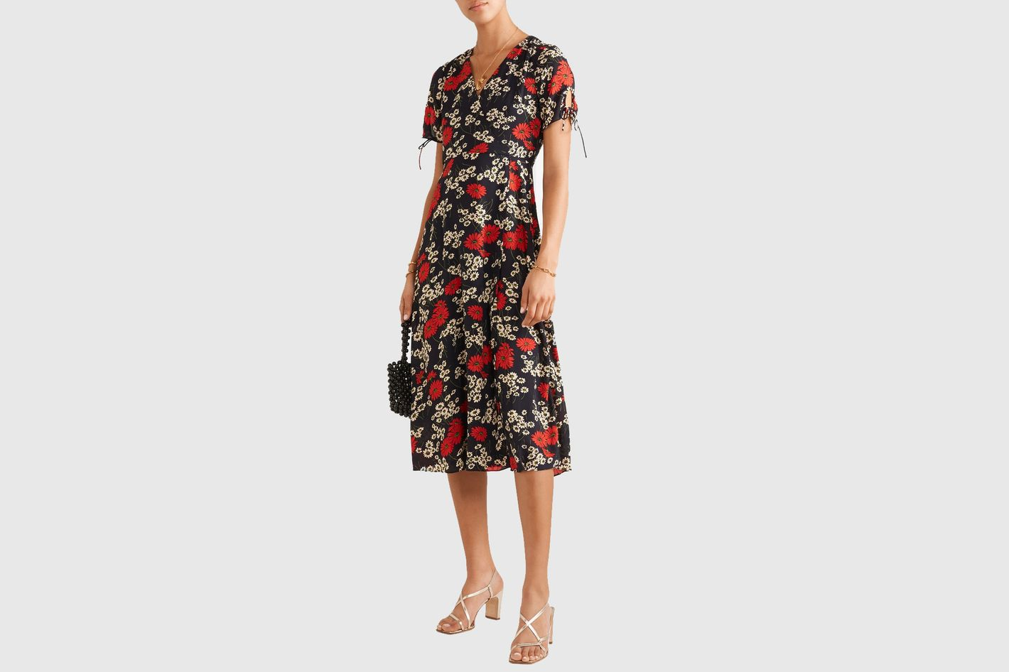 Madewell Wrap-effect Floral Midi Dress