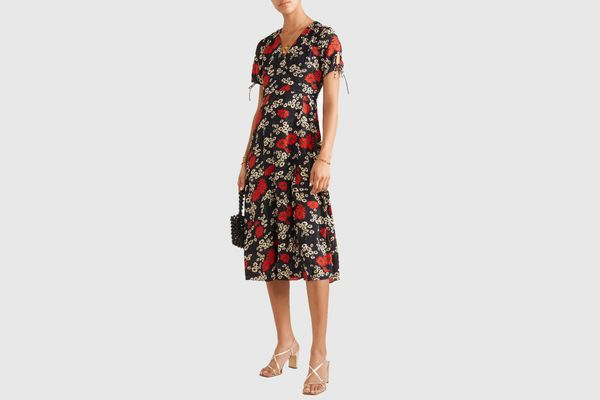 Madewell Wrap-effect Floral Midi Dress