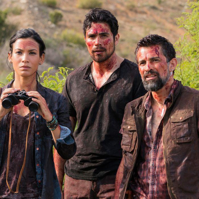 Danay Garcia as Luciana, Alfredo Herrera as Francisco Scout, Carlos Sequra as Scout - Fear The Walking Dead _ Season 2, Episode 8 - Photo Credit: Richard Foreman Jr /AMC