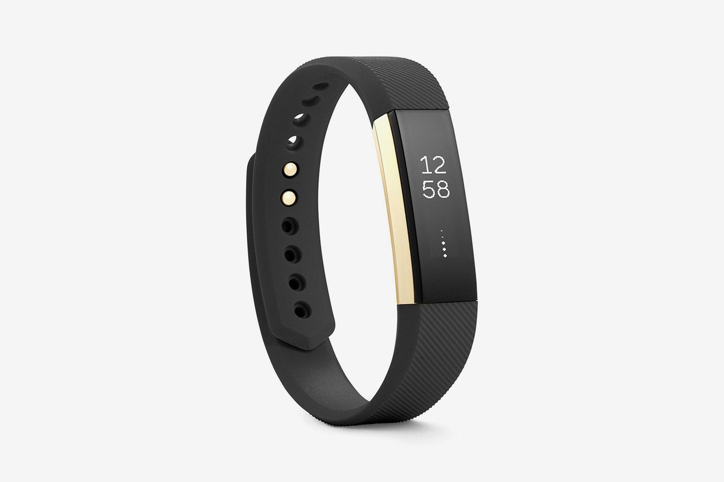 Fitbit Alta Fitness Tracker, Special Edition Gold, Black