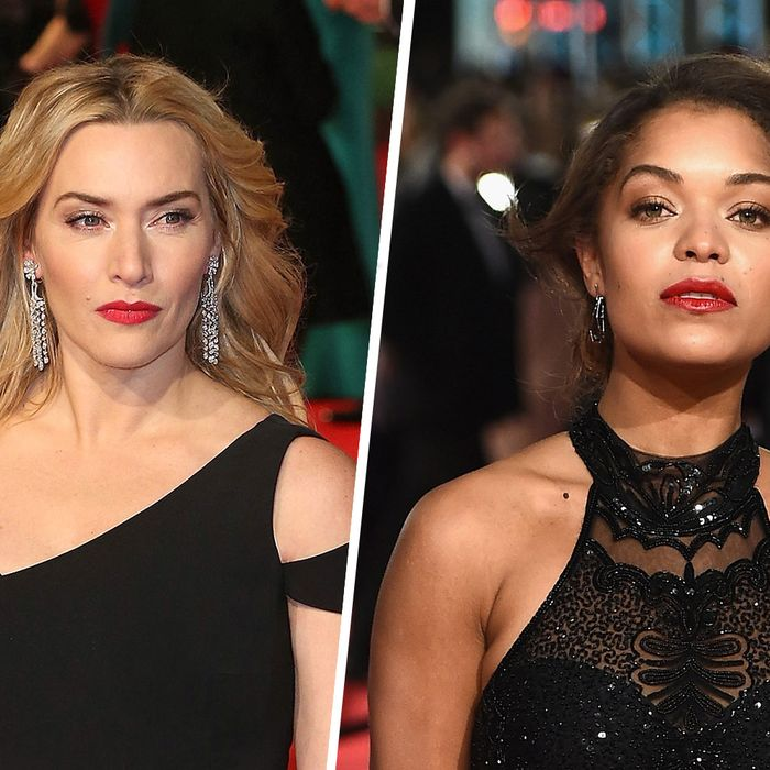 Kate Winslet and Antonia Thomas at the BAFTAs