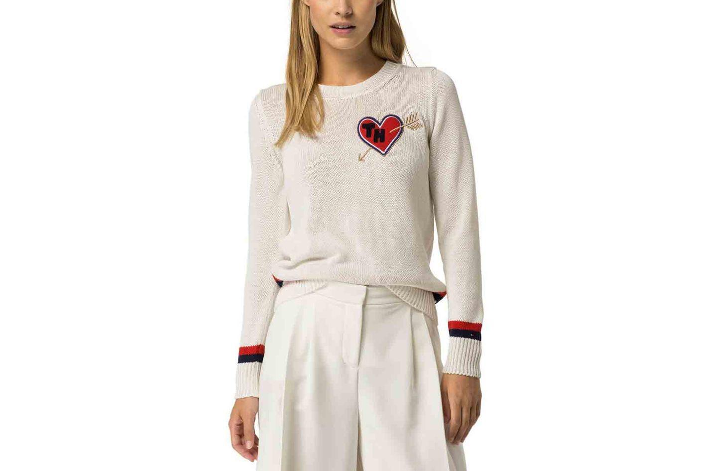 Tommy Hilfiger 'I Heart Tommy' Stripe Sweater