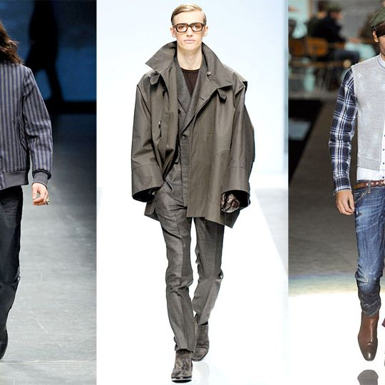 Looks from Diesel, Ports 1961, and DSquared2.