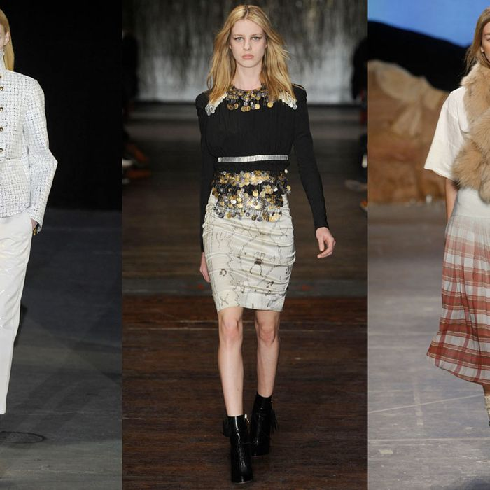 Looks from Alexander Wang, Altuzarra, and Band of Outsiders