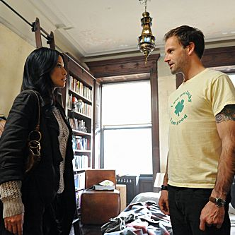 Pilot-- Jonny Lee Miller (right) stars as Sherlock Holmes and Lucy Liu (left) stars as Watson on the new television series ELEMENTARY, premieres Thursdays, September 27th,(10:00-11:00 PM ET/PT) on the CBS Television Network.