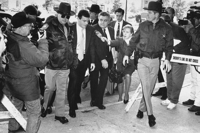 John Bobbitt entering court.
