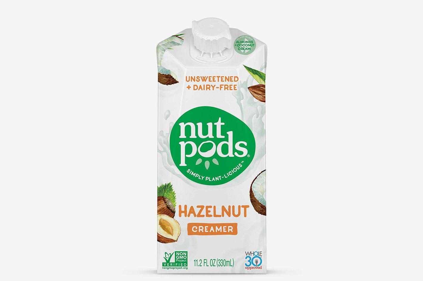 Nutpods Dairy-Free Creamer Unsweetened (Hazelnut, 4-pack)