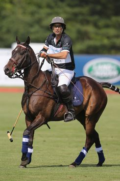 Polo Player Nacho Figueras competes at the Greenwich Polo Club during the sixth day of HRH Prince Harry's visit to the United States. The Sentebale Royal Salute Polo Cup took place at Greenwich Polo Club on Wednesday 15th May.