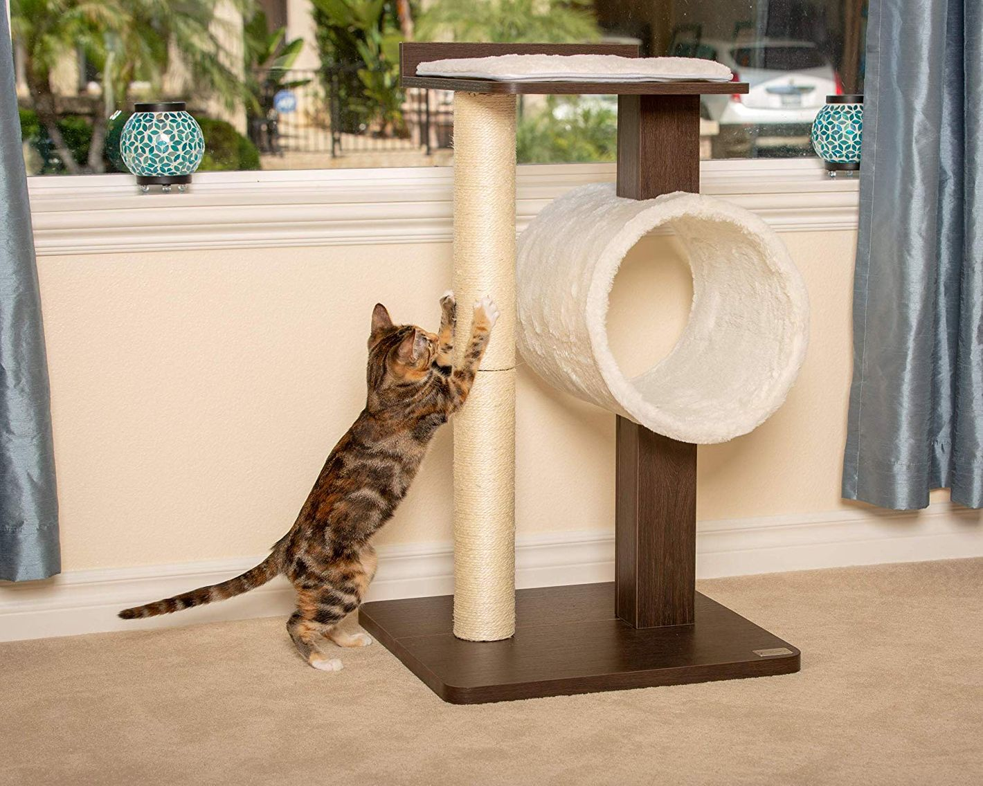 Petfusion Modern Cat Tree House Tall Scratching Post