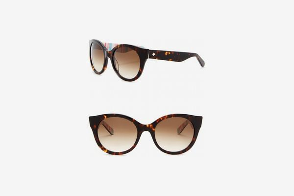 Kate Spade New York Melly 53mm Round Cat Eye Sunglasses