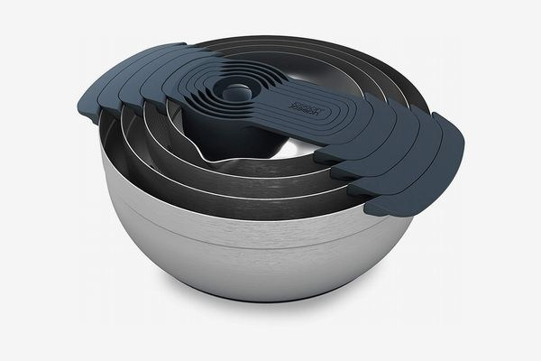 Joseph Joseph 95032 Nest 9 Stainless Steel Compact Nesting Mixing Bowl Set