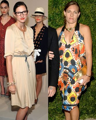 Jenna Lyons and Courtney Crangi.
