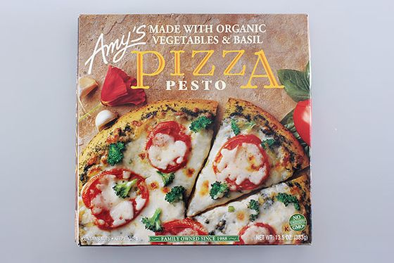"<b>Pesto</b>    <a href=""http://www.amys.com/products/product-detail/pizzas/000104"">Amy's</a>    Amy's, which prides itself on nutritious frozen meals, tops its pie with a heaping of organic broccoli. Putting all the health jargon aside (this is frozen pizza, after all), this is a fantastic pie. If you bake it on the rack (instead of a baking sheet), you'll get a crunchy, crackerlike crust."