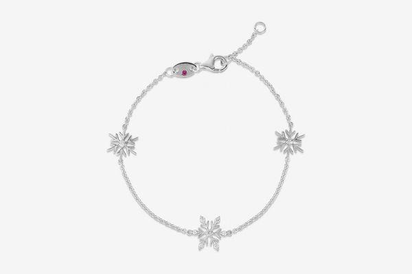 Roberto Coin x Disney's Frozen 2 18k White Gold Snow Bracelet