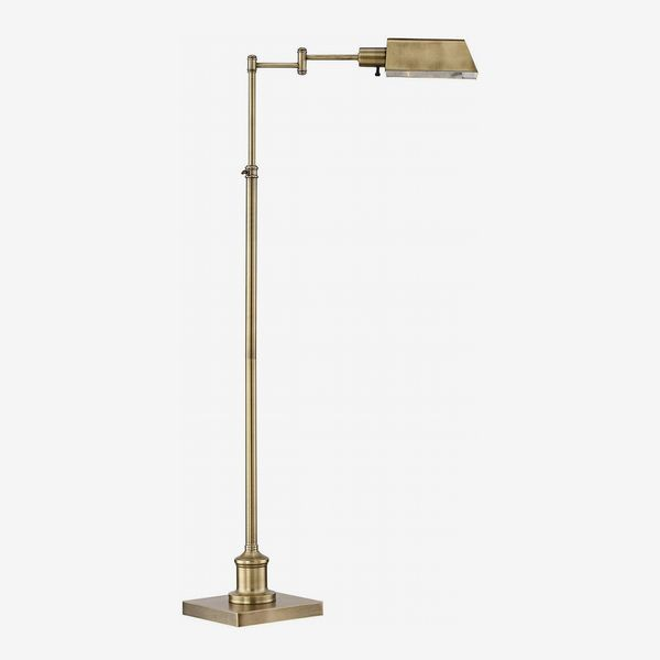 Regency Hill Jenson Aged Brass Pharmacy Floor Lamp